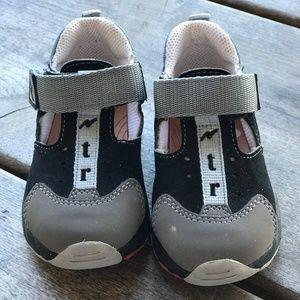 Naturino Falc Sandals Navy Gray Boys 22 Sturdy 6
